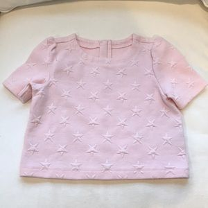 Gymboree pink embossed star top, size S, 5-6